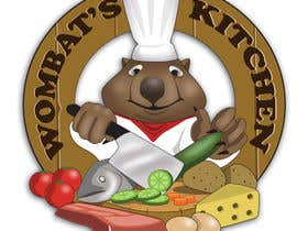 #37 para Restaurant Logo Design - drawing a wombat whos a chef! por Radiant1976