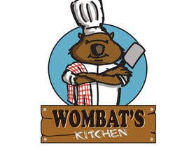 #47 para Restaurant Logo Design - drawing a wombat whos a chef! por Radiant1976