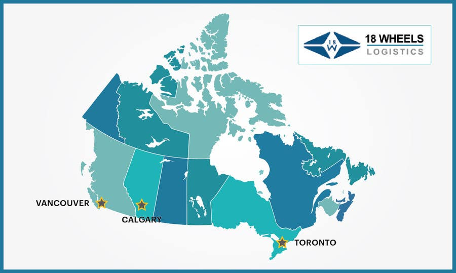 Map Of Canada Vancouver Toronto.Create A Locations Map Of Canada With 3 Points Freelancer