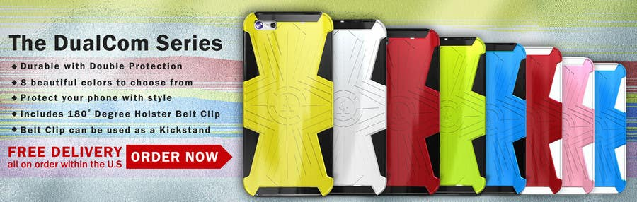 #18 for Design a Banner for Mobile Case Website by patlau