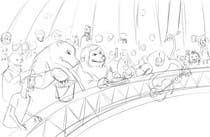 Illustration Design for Childrens Book - Circus Scene için Graphic Design10 No.lu Yarışma Girdisi