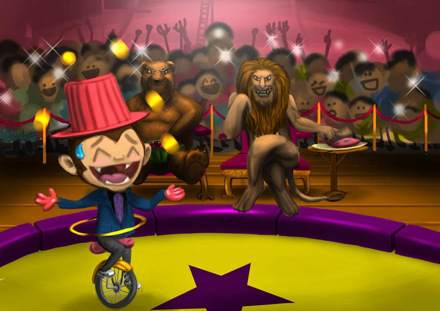 Contest Entry #                                        21                                      for                                         Illustration Design for Childrens Book - Circus Scene