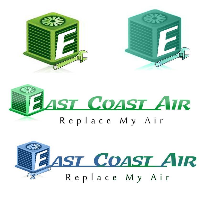 #222 for Design a Logo for East Coast Air conditioning & refrigeratiom by tobagganski343