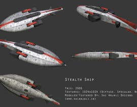 bhumitpadalia tarafından Do some 3D Modelling for Sci-fi video Game Stealth ship için no 4