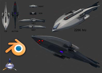#1 for Do some 3D Modelling for Sci-fi video Game Stealth ship by JuanG3D