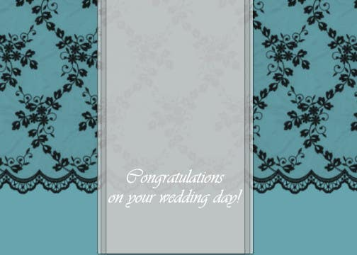 #5 for Design some Stationery for a Wedding Congratulations Card by luciacrin