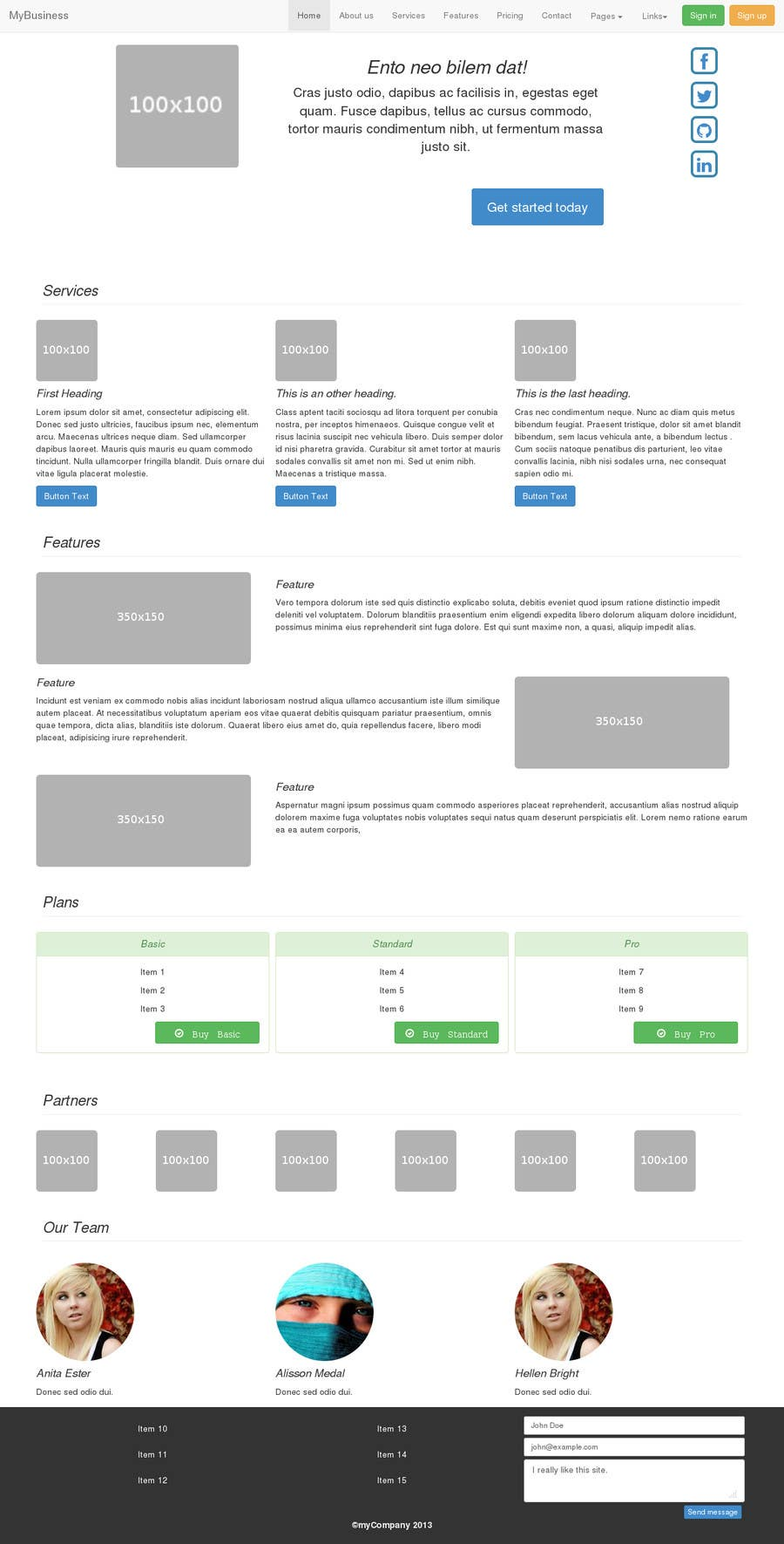 #2 for Design of one HTML page based on Bootstrap 3 by XisPy