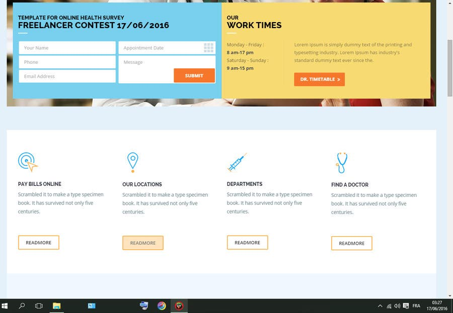 Template for Online Health Survey – Health Survey Template