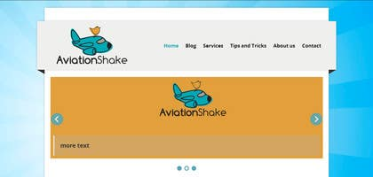 Graphic Design Contest Entry #5 for Create a Wordpress Site for AviationShake.com