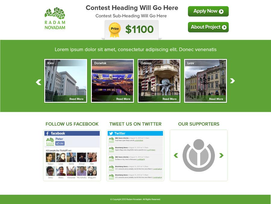 #15 for Design for website front page by atularora