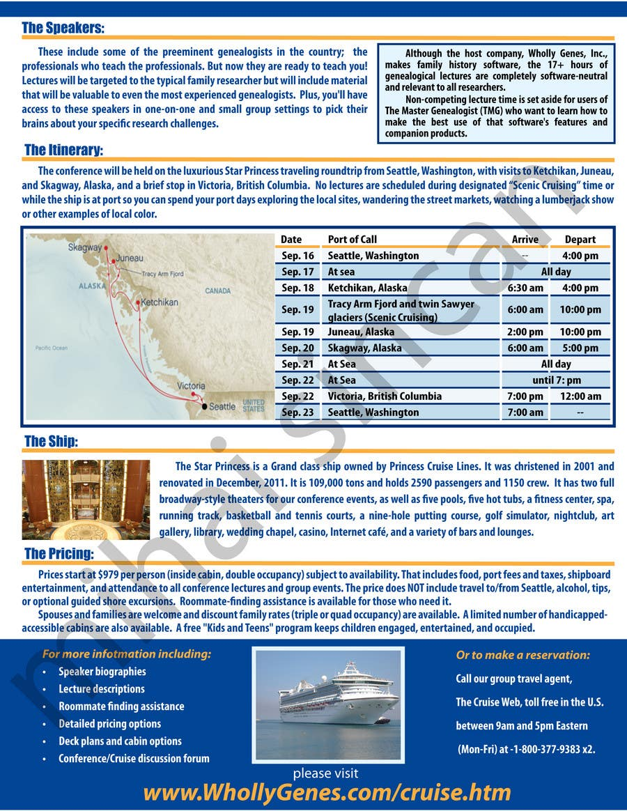 Bài tham dự cuộc thi #                                        41                                      cho                                         Brochure Design for Annual Conference and Cruise