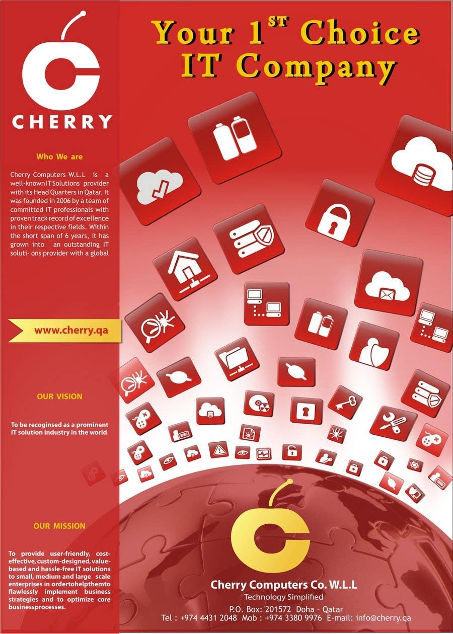 Penyertaan Peraduan #54 untuk Brochure Design for Cherry Computers Co. W.L.L.