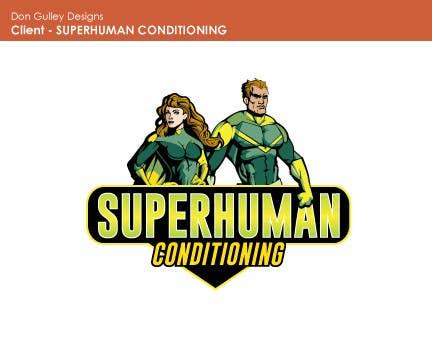 Penyertaan Peraduan #25 untuk Design a 'comic book style' Logo for: Superhuman Conditioning