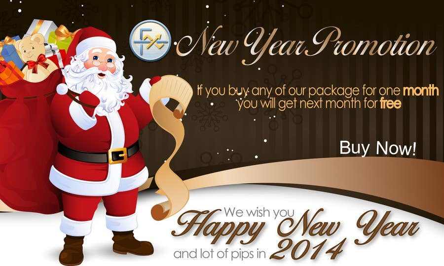 #65 for Design a Banner for New Year Promotion by victorianeyes