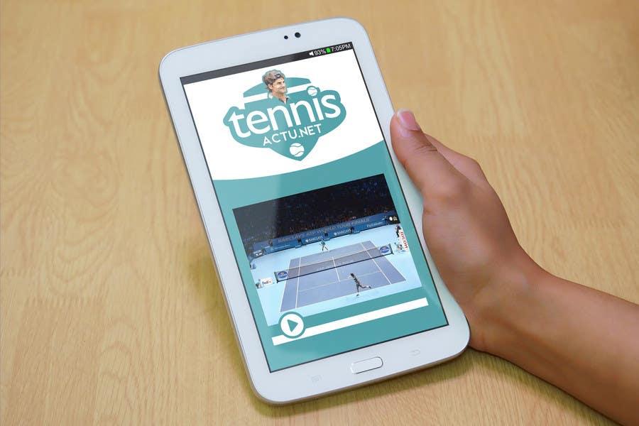 Proposition n°2 du concours Make a logo for TennisActu a new rebranding website about tennis