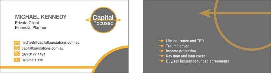 #4 for Design Business Cards and a logo for Capital Foundations an insurance advice business by Hammadbhatty