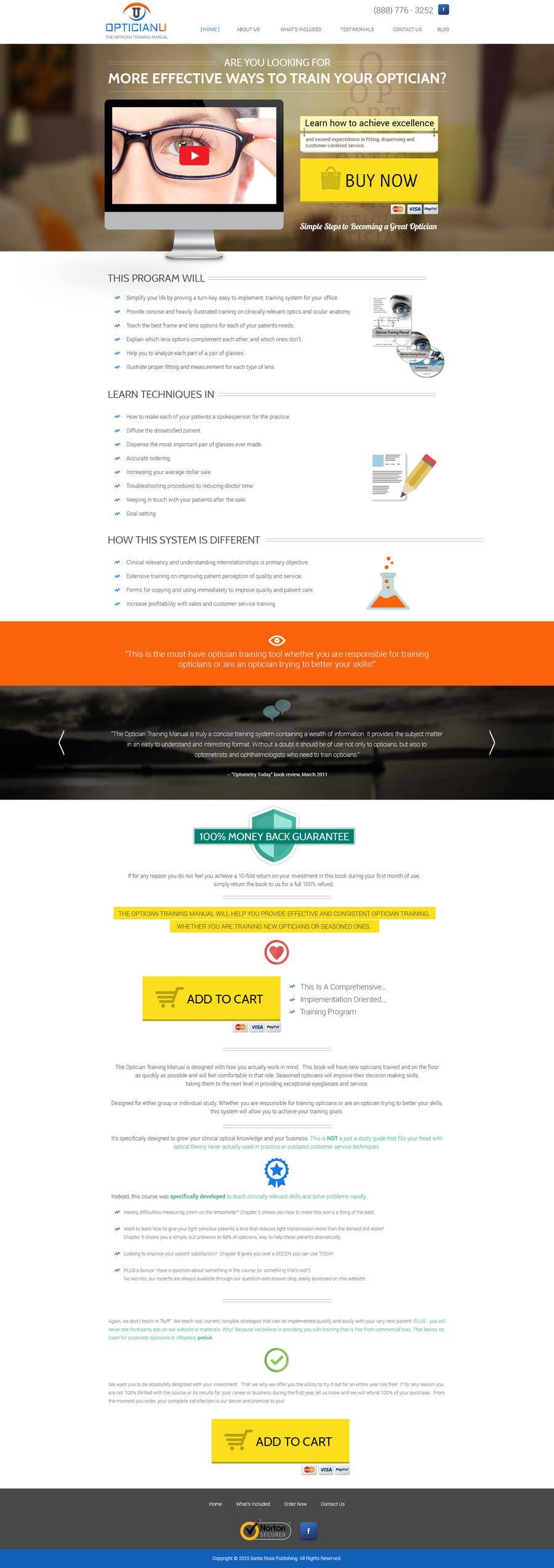 #11 for Design a Website Mockup for www.OpticianTraining.com by thecwstudio