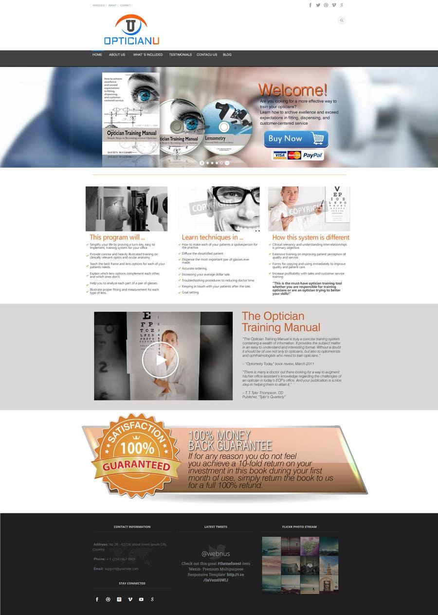 #15 for Design a Website Mockup for www.OpticianTraining.com by puntocreativoCo