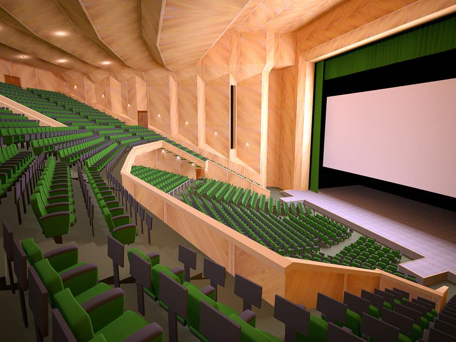 Entry #4 by roundPx for 3D MODEL OF A GRAND THEATRE | Freelancer