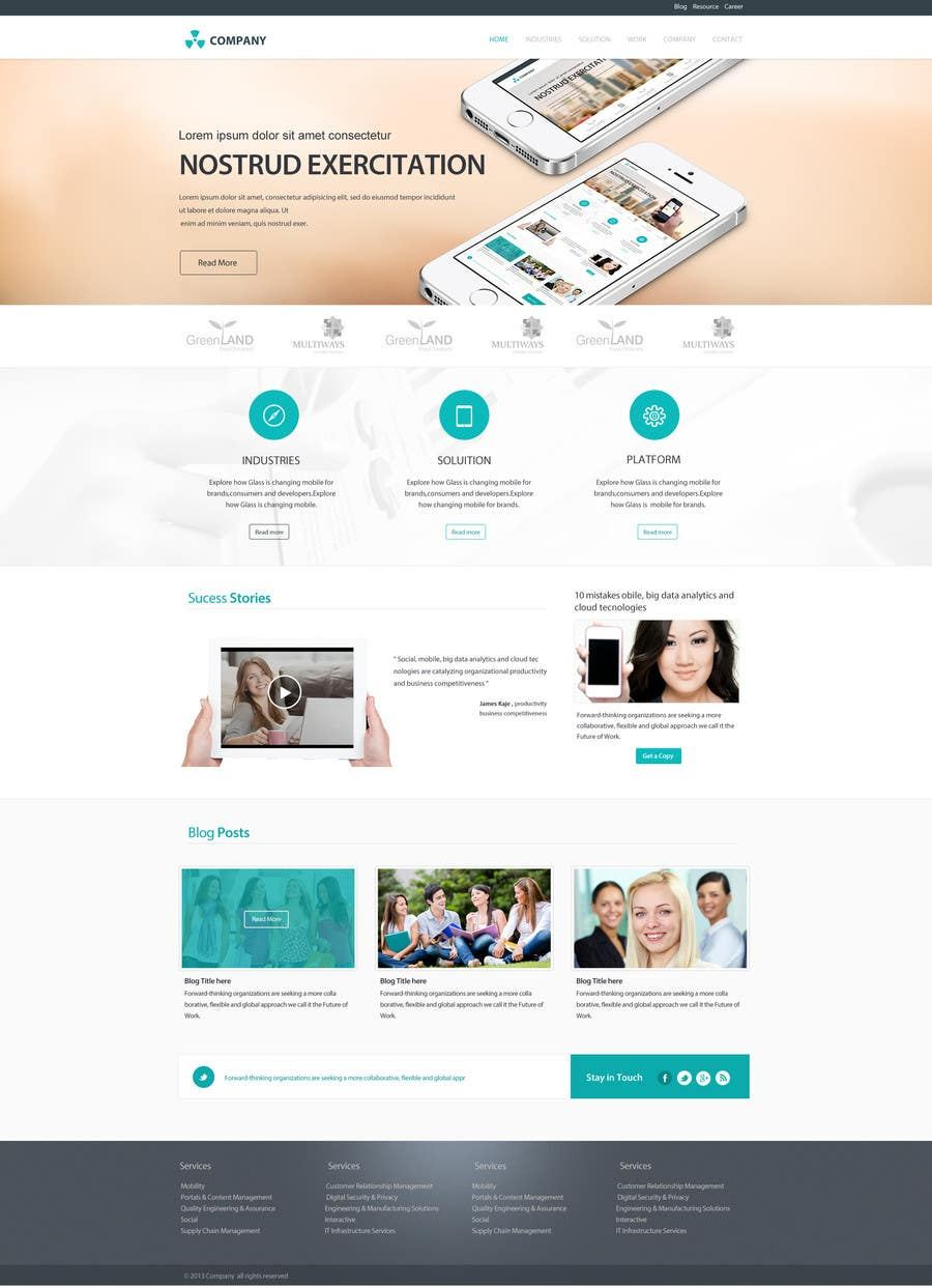 #26 for Home Page Design for a Corporate Site ( Would evolve into long term contract) by SadunKodagoda