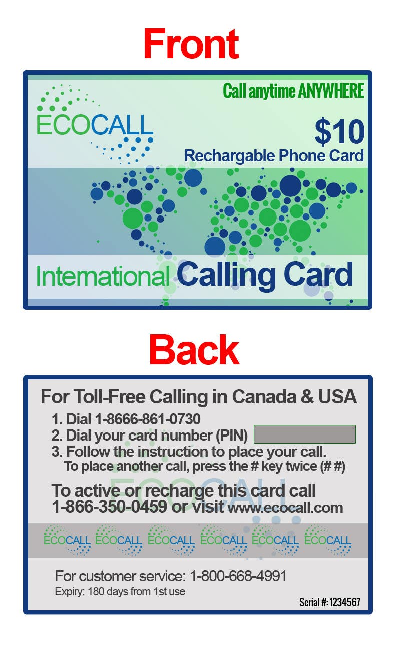 #20 for Prepaid Calling Card Design by sharpBD
