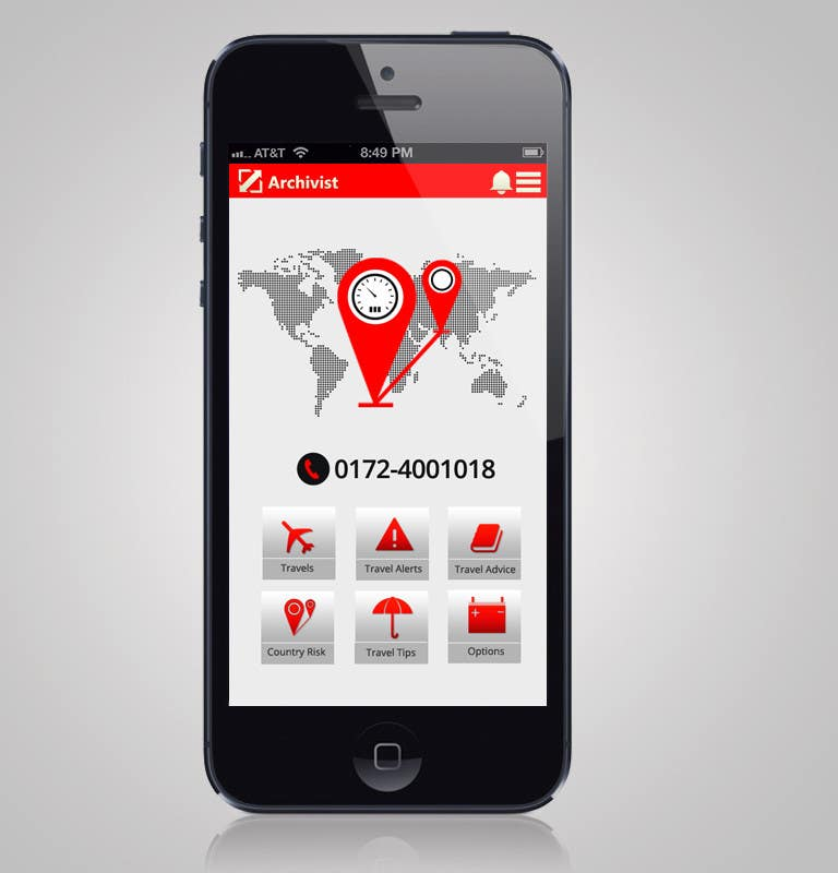#33 for Design the main page for a travel security app by MagicalDesigner