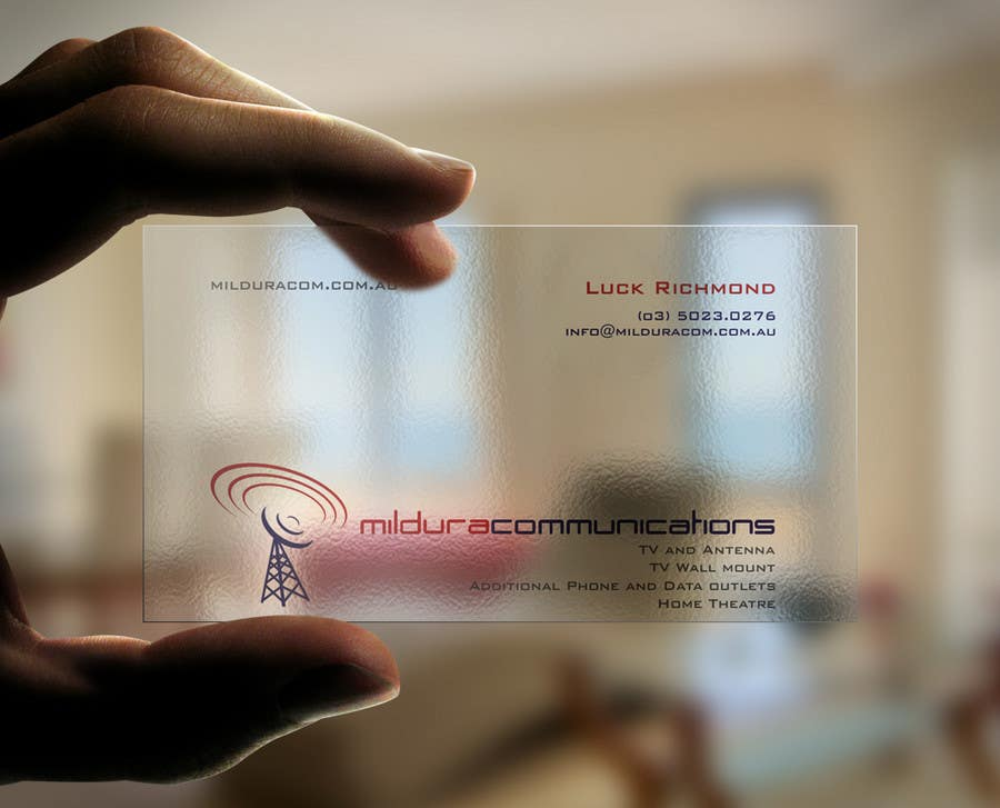 Contest Entry #                                        17                                      for                                         Business Card Design for Mildura Communications