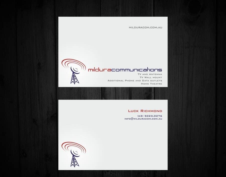 Конкурсная заявка №16 для Business Card Design for Mildura Communications