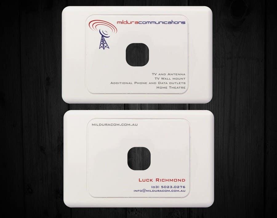 Contest Entry #                                        18                                      for                                         Business Card Design for Mildura Communications