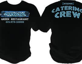 #38 for Design a T-Shirt for Mykonos Greek Restaurant by bacujkov
