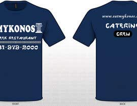 #25 untuk Design a T-Shirt for Mykonos Greek Restaurant oleh uditgarg94