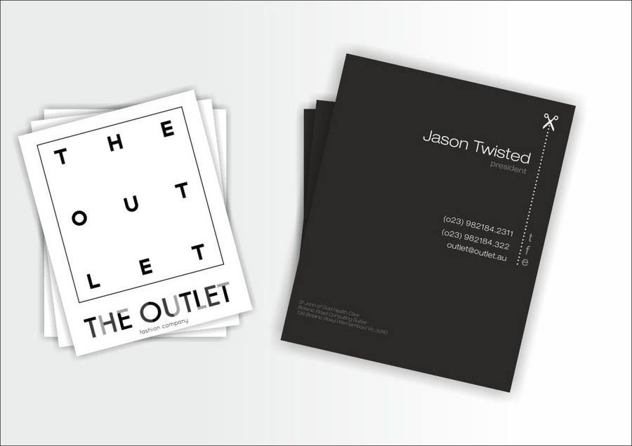 Penyertaan Peraduan #                                        9                                      untuk                                         Business Card Design for The Outlet Fashion Company