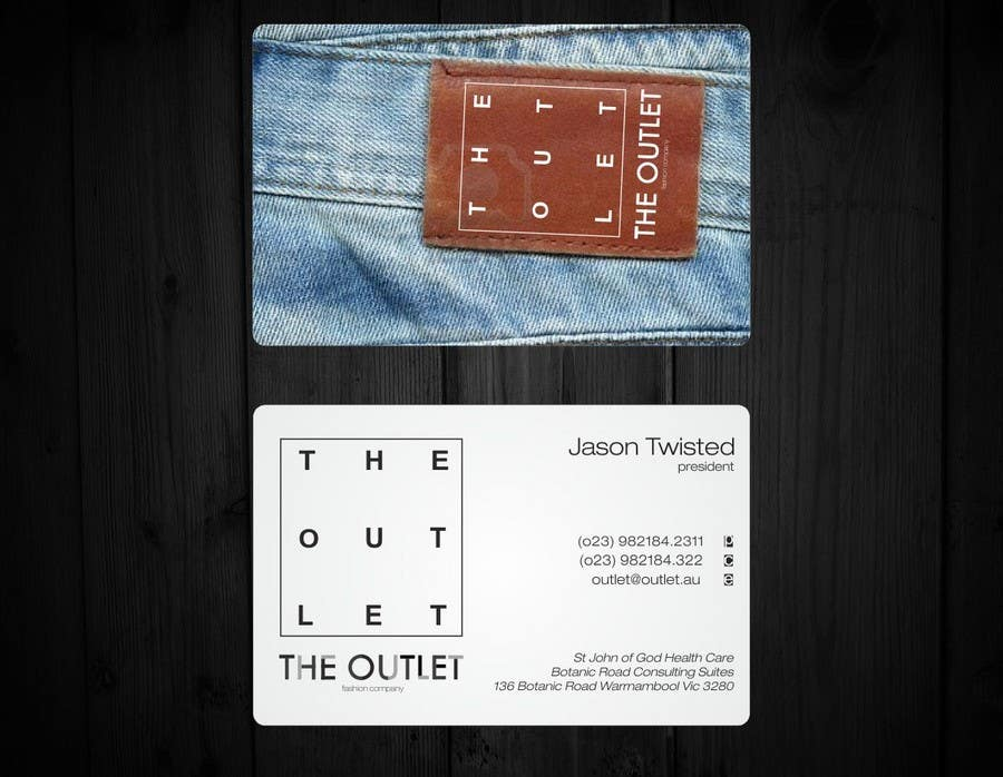 Penyertaan Peraduan #                                        51                                      untuk                                         Business Card Design for The Outlet Fashion Company