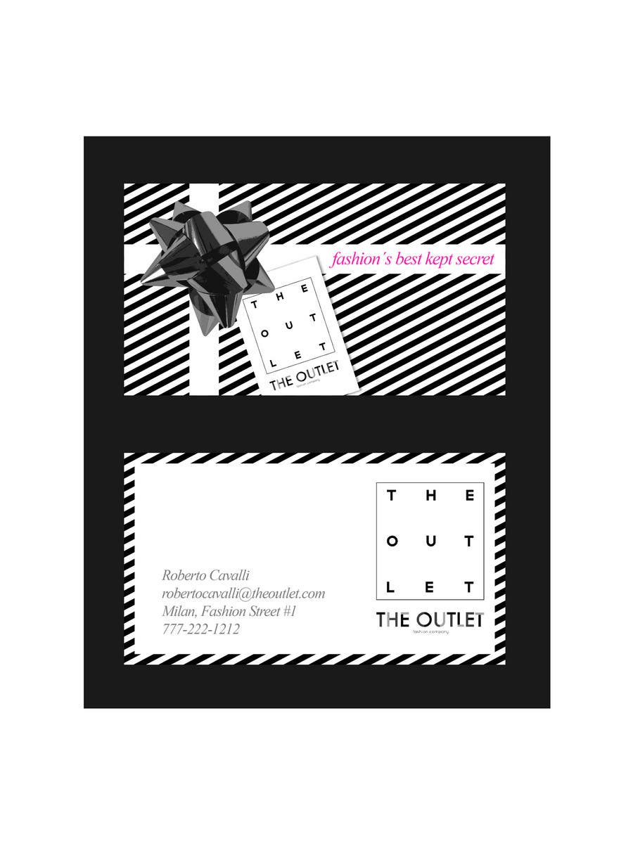 Penyertaan Peraduan #                                        82                                      untuk                                         Business Card Design for The Outlet Fashion Company