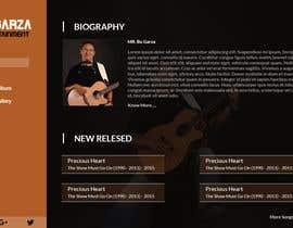 shreshthauni09 tarafından Design a Website Mockup for a Country Musician için no 25