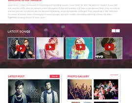 jituchoudhary tarafından Design a Website Mockup for a Country Musician için no 28