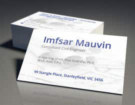 #72 untuk Design some Business Cards for Imfsar Mauvin oleh colbeanustefan