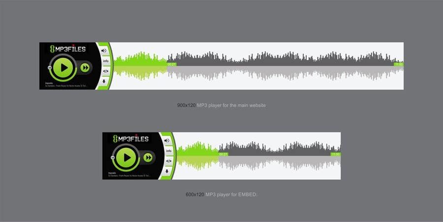 #64 for Design MP3 Music Player [PSD File Required] by ezesol