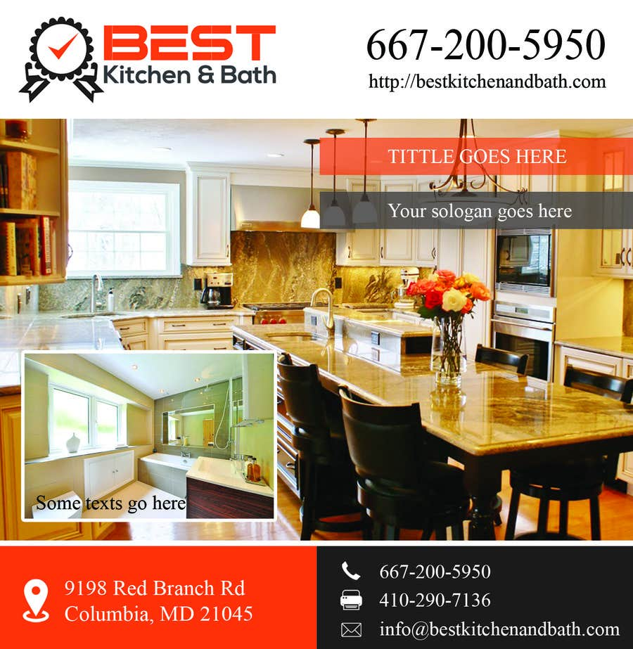 advertisement flyer design for kitchen remodeling company