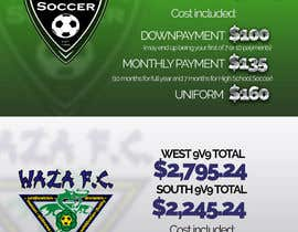 dezsign tarafından Design and Layout Cost Comparisons for local soccer clubs için no 3