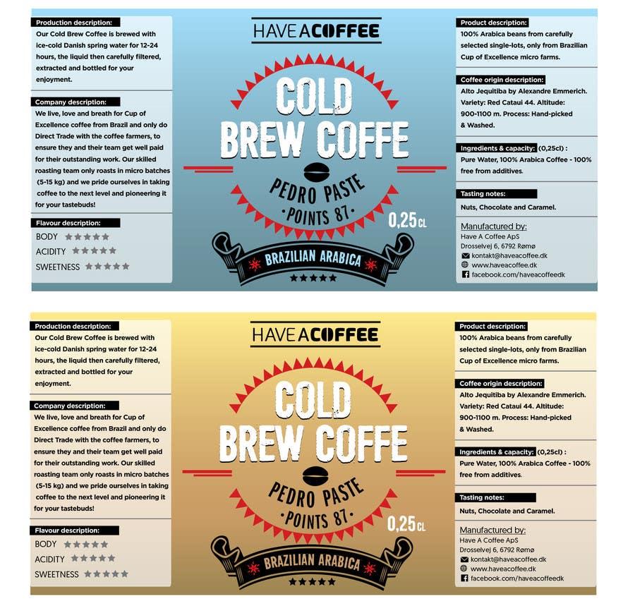 Kilpailutyö #23 kilpailussa Label design for a bottle (Cold brew coffee)