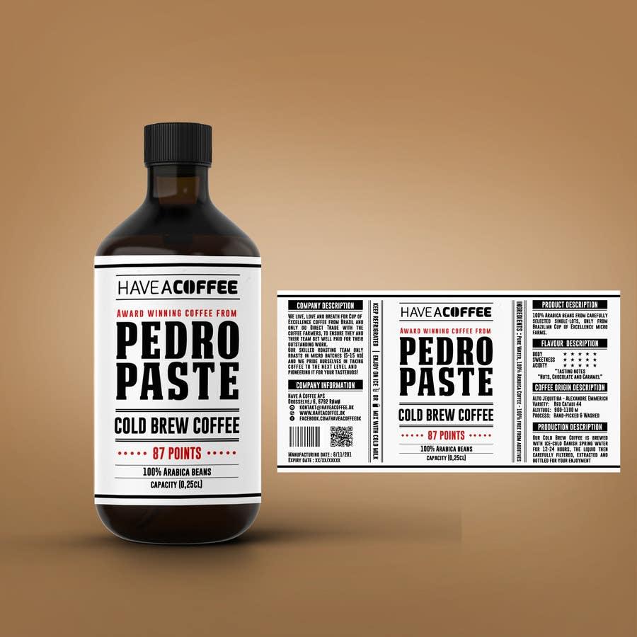 Kilpailutyö #29 kilpailussa Label design for a bottle (Cold brew coffee)