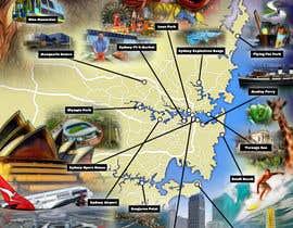 Nro 8 kilpailuun Illustrate Map of Sydney with cartoon like elements käyttäjältä OLASON