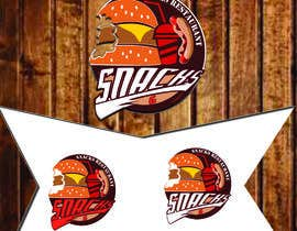 justgegee99 tarafından Design a Logo for: Snacks Restaurant için no 69