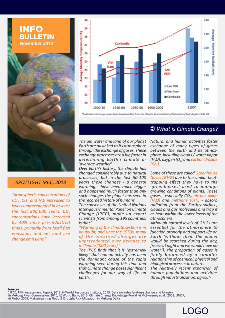 #19 for Design a Info-Bulletin template for a climate change & agriculture awareness-raising by barinix