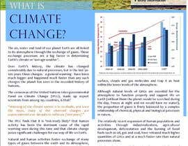 nº 26 pour Design a Info-Bulletin template for a climate change & agriculture awareness-raising par PranjalIshti