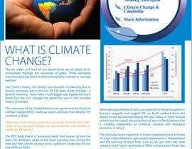 nº 4 pour Design a Info-Bulletin template for a climate change & agriculture awareness-raising par amcgabeykoon