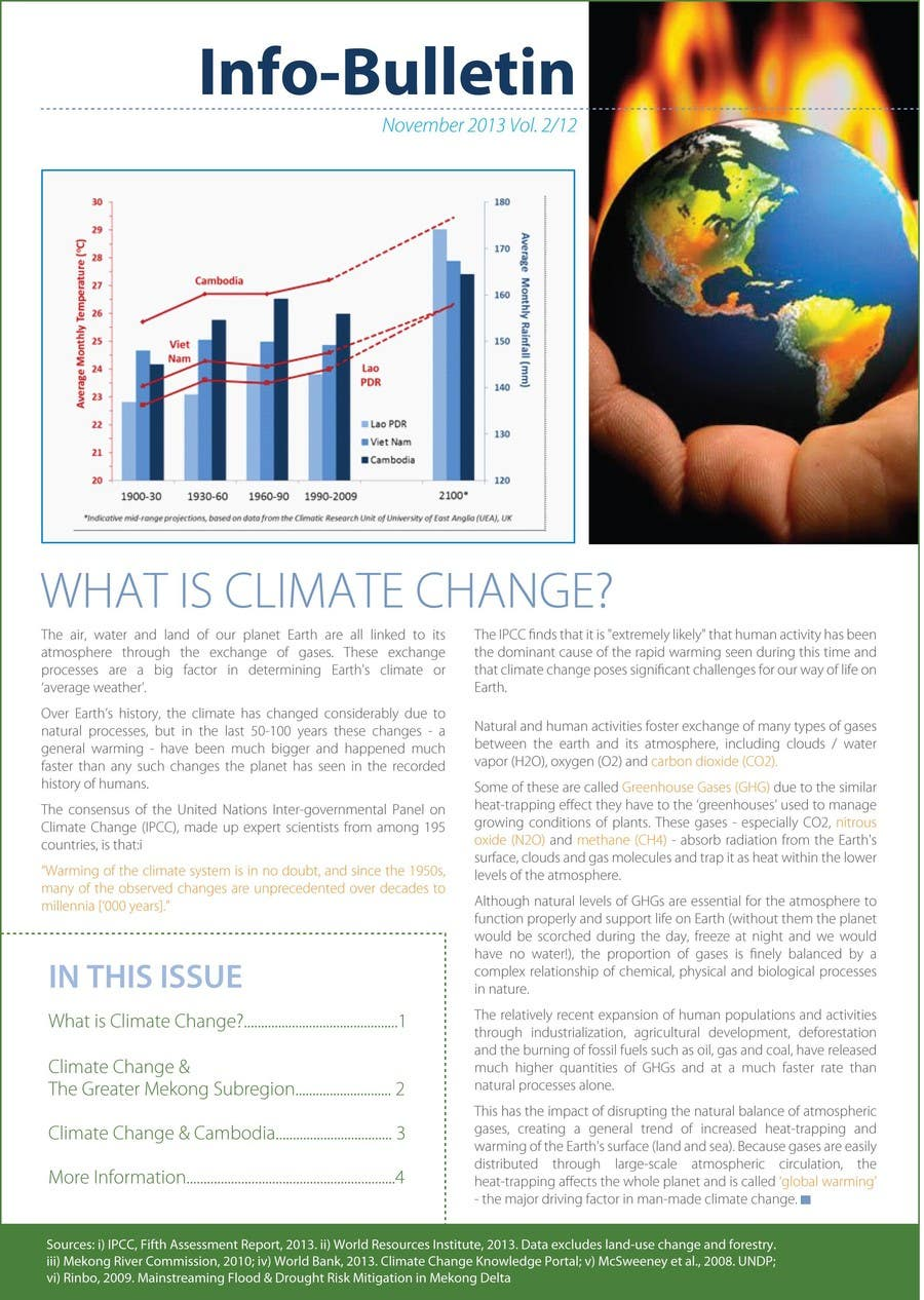 #24 for Design a Info-Bulletin template for a climate change & agriculture awareness-raising by amcgabeykoon