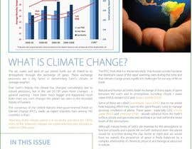 nº 24 pour Design a Info-Bulletin template for a climate change & agriculture awareness-raising par amcgabeykoon