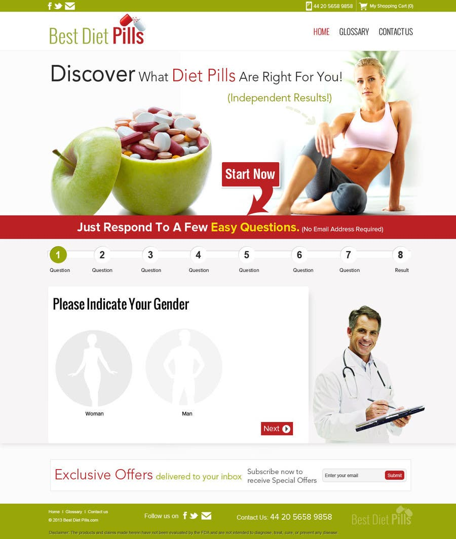 #4 for Design a Website Mockup for Weight Loss Website by suryabeniwal